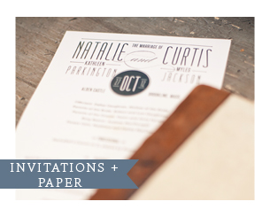 Wedding Invitations and paper